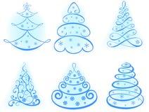 Árvore ajustada do Natal. Elementos para o projeto Foto de Stock Royalty Free