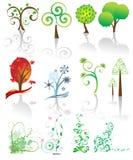 Árvore ajustada no vetor Fotos de Stock Royalty Free