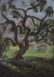Árvore no verão ilustração stock