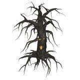 Árvore assustador do KRW ilustração do vetor