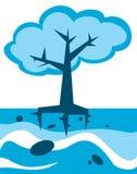 Árvore azul Imagem de Stock