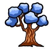 Árvore azul mágica da fantasia de Trully Fotos de Stock Royalty Free