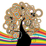 Árvore bonita, arco-íris Imagens de Stock