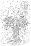 Árvore bonito do conto de fadas da floresta mágica Imagens de Stock Royalty Free
