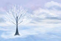 Árvore branca ilustração do vetor