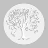 Árvore branca Ilustração Stock
