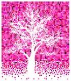 Árvore branca em quadrados pinky Foto de Stock