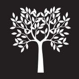 Árvore branca no fundo preto Ilustração do vetor ilustração do vetor