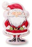 Árvore caseiro de Santa Claus Christmas das cookies decorada com cor Foto de Stock