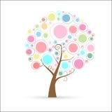 Árvore colorida ilustração stock
