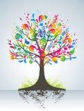 Árvore colorida abstrata. ilustração stock