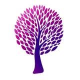 Árvore colorida abstrata Ilustração do vetor Fotografia de Stock Royalty Free