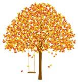 Árvore com Autumn Leaves ilustração royalty free