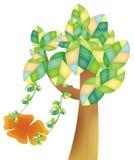 Árvore com balanço ilustração royalty free