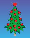 Árvore com corações Fotografia de Stock