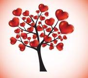 Árvore com corações ilustração do vetor