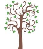 Árvore com corações Imagem de Stock Royalty Free