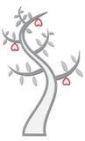 Árvore com corações Ilustração Stock