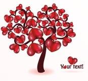 Árvore com corações Imagens de Stock