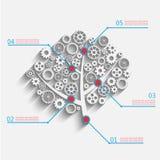 Árvore com engrenagens Imagem de Stock
