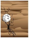 Árvore com fundo dos pássaros ilustração stock