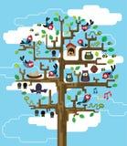 Árvore com habitantes ilustração stock