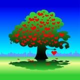 Árvore com herats Fotos de Stock Royalty Free
