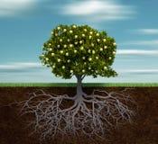 Árvore com maçã dourada