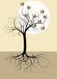 Árvore com pássaros Imagens de Stock Royalty Free