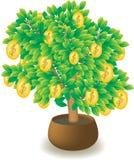 Árvore com um dinheiro. ilustração royalty free