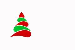 A árvore conceptual do ano novo e do Natal feita de um cartão da cor Isolado Fotos de Stock