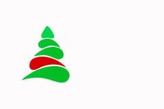 A árvore conceptual do ano novo e do Natal feita de um cartão da cor Isolado Imagens de Stock Royalty Free