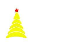 A árvore conceptual do ano novo e do Natal feita de um cartão da cor Isolado Imagem de Stock