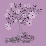 Árvore congelada ilustração stock
