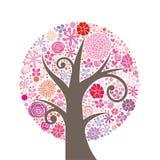 Árvore cor-de-rosa Ilustração Stock
