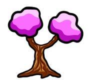 Árvore cor-de-rosa mágica da fantasia Fotos de Stock