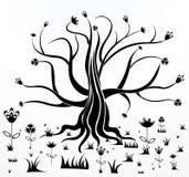 Árvore creativa abstrata ilustração do vetor