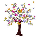 Árvore da borboleta Fotografia de Stock Royalty Free