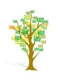 Árvore da economia imagem de stock