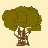 Árvore da fábrica ilustração de papel Foto de Stock