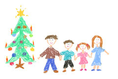 Árvore da família e de Natal Foto de Stock