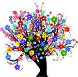 Árvore da flor ilustração do vetor