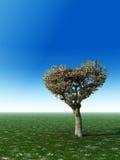 Árvore da forma do coração ilustração stock
