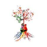 Árvore da guitarra ilustração royalty free