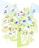 Árvore da música de folha Fotos de Stock Royalty Free