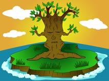 Árvore da meditação ilustração do vetor