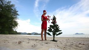 Árvore da menina e de Natal filme