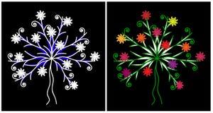 Árvore da mola e do inverno Fotografia de Stock Royalty Free