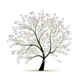 Árvore da mola floral para seu projeto Fotos de Stock Royalty Free