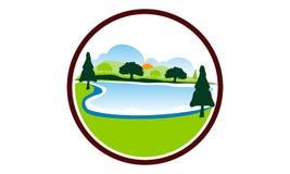 Árvore da montanha do lago ilustração do vetor